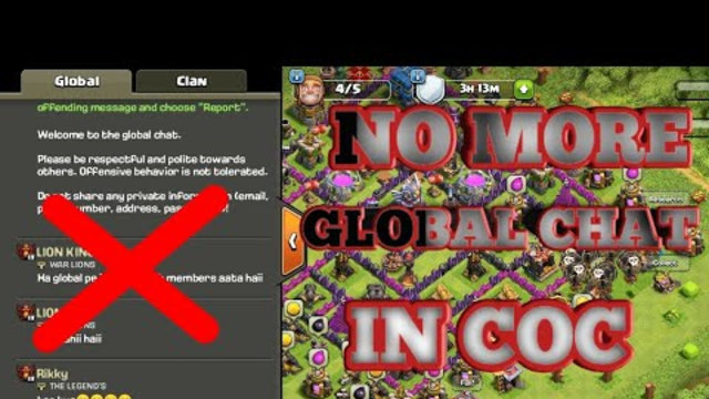 NO MORE GLOBAL CHAT IN COC! SUPERCELL KI TABAHI