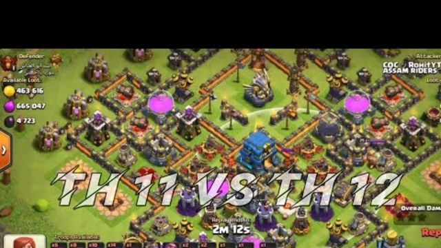 TH 12 vs TH 11 - Clash Of Clans Feat. Lalala