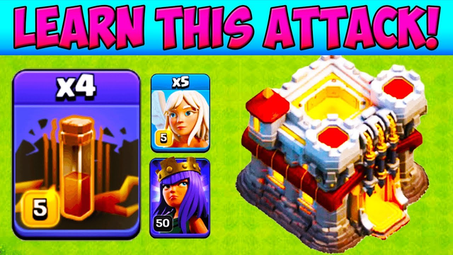 *POWERFUL* Queen Charge Quad Quake! Town Hall 11 Attack Strategy 2019  TH11 Lavaloon | COC