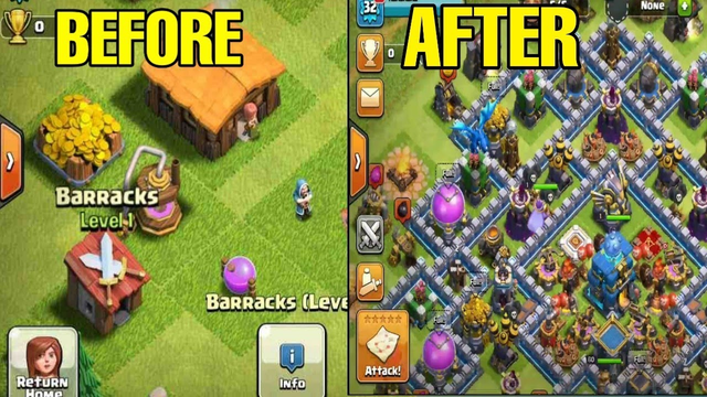Coc th 1 to th 12 in one video !!!