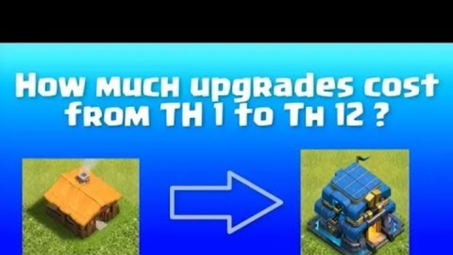 All Details of Clash of clans. Total amount in th1 to th12
