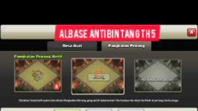 Base th 5   anti bintang 3   (clash of clans)