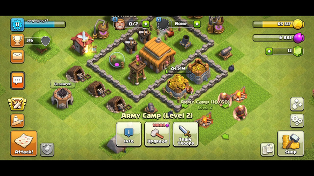 Clash of clans Road to max TH5 ep 2