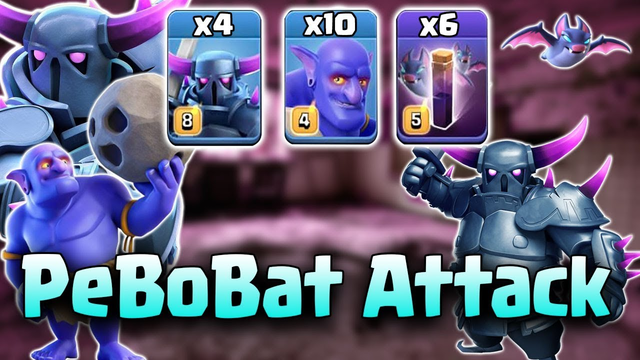 PeBoBat Attack Strategy 2019! 10 Bowler 6 Bat Spell 4 Pekka Destroy 3Star TH12 Base | Clash Of Clans