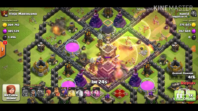 P.E.K.K.A Clash of Clans Best attack 3Ster | (Town Hall 9 CoC)