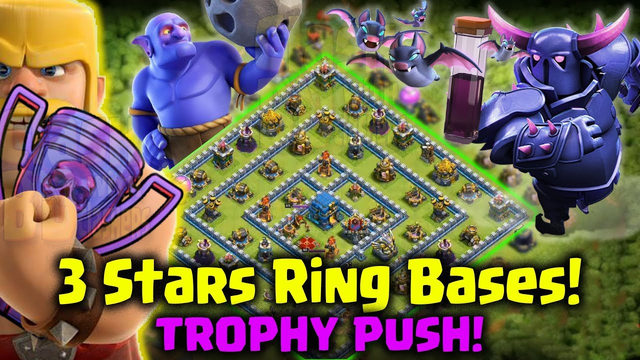How to 3star Ring Base In Legend Trophy Push - Best Ground Strategy 2019 -Hit To Top -Clash Of Clans