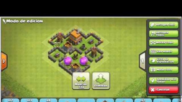 Aldea Defensiva TH 4 - Clash Of Clans