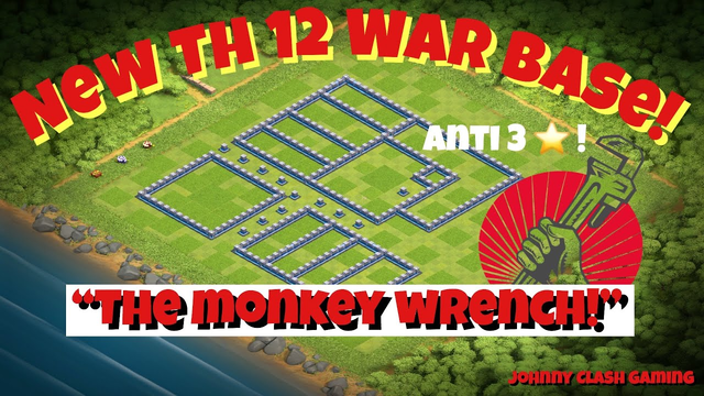 Best New TH12 War Base with 4 Replays! | Anti 3 Star! | Clash of Clans 2019