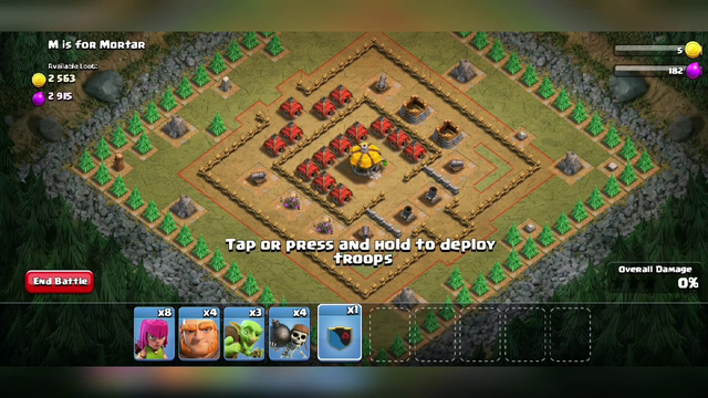 Funny gameplay clash of clan (coc)
