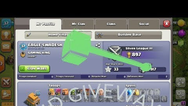 Clash Of clans Th 6 I'd Giveway