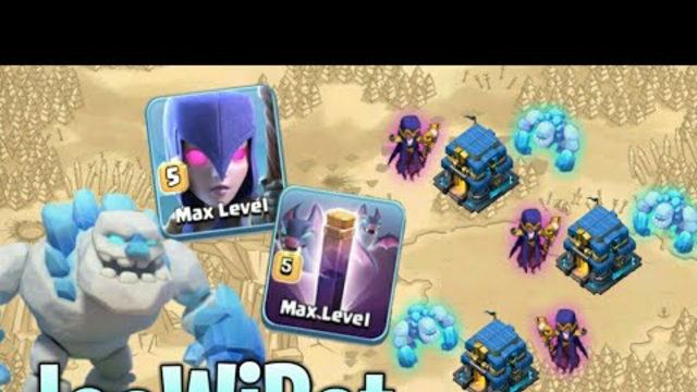 5 Ice Golem + 9 Witch + 8 Bat Spell Attack   TH12 Best 3 Star War Strategy   Clash of Clans