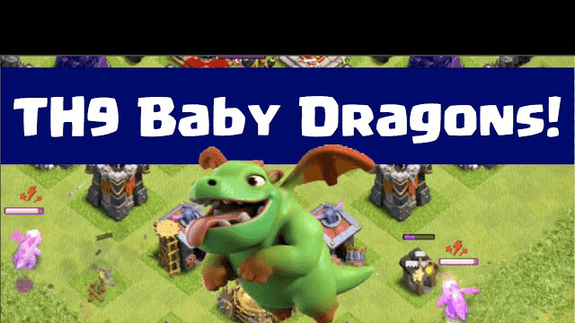 Clash of Clans- TH9 Baby Dragon Attacks! Baby Dragon Strategy