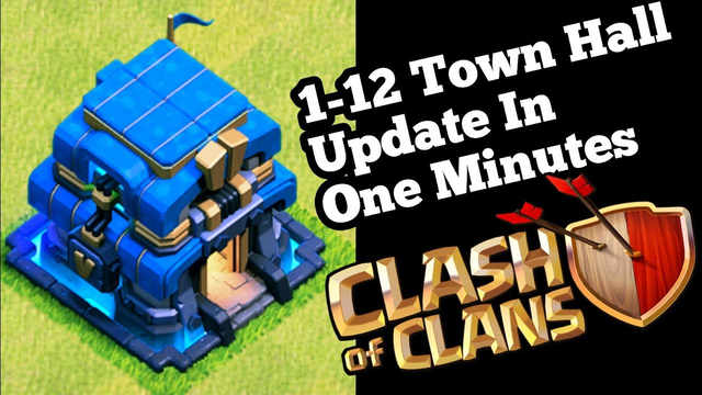 Take a look at all at a glance || Town Hall 1-12 Level || Clash Of Clans 2019