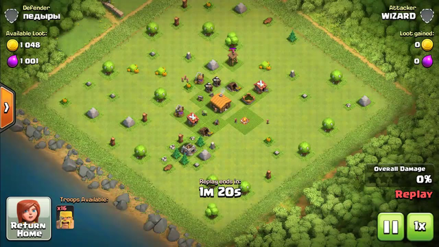 Clash of clans th2 attack strategy   coc th2 Barb attack strategy