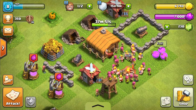 100% Maxed Town Hall 2 (Clash Of Clans)