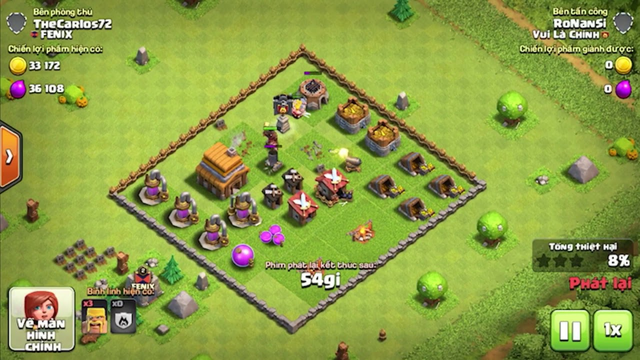Town Hall 3 CLEAR Town hall4 full /: Clash of Clans