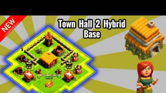 Best Town Hall 2(Th2) Hybrid Base-Clash Of Clans By Gaming Adda.