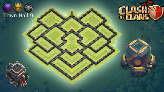 Town Hall 9 Dark Elixir Base - Clash of Clans (TH9)