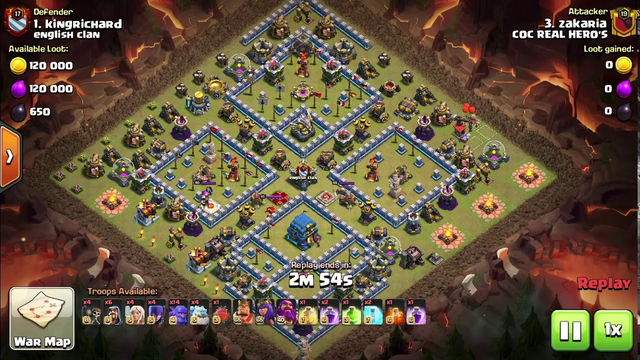 How to 3 star a maxed th 12 base in clash of clans using Ice golem and bowler strategy