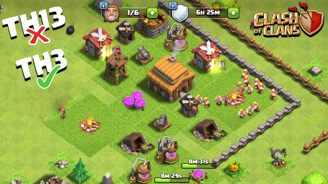 Everyone is Waiting for Town Hall 13 (TH13) and i am Playing TH3 How To Play Clash of Clans #3 - COC