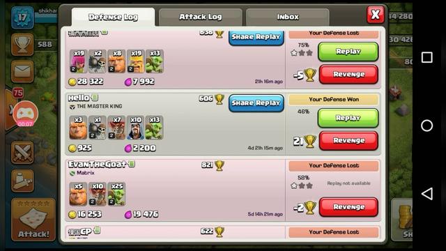 Clash of clans defense TH 5