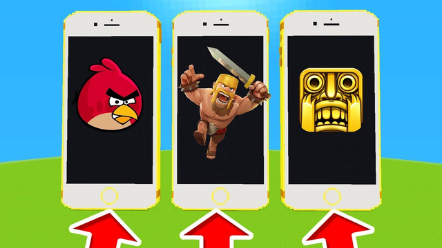 Minecraft PE : DO NOT CHOOSE THE WRONG IPHONE! (Angry Birds, Clash of Clans & Temple Run)