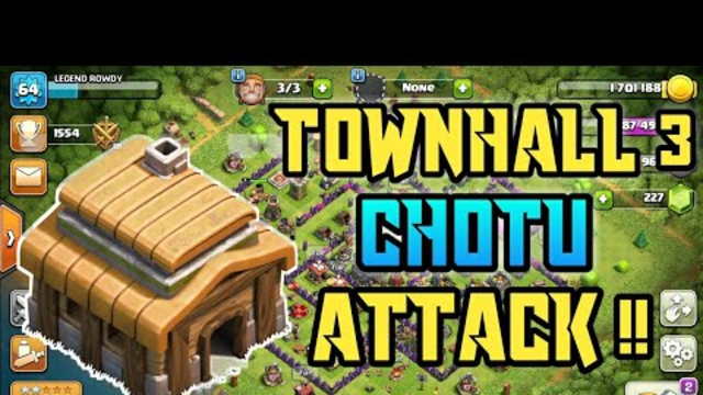 TOWNHALL 3 || ATTACK STRATEGY || BALLONS || CLASH OF CLANS INDIA ||