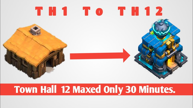 New CoC TH1 To Th12 Maxed Within 30 Minutes 2019|| Th12 Farm To Max|Clash Of Clans|Max Th12 Gameplay