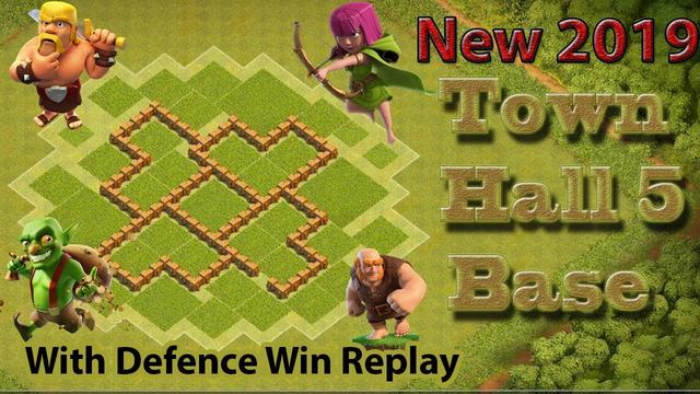Town Hall 5 Base Defense 2019 - Clash Of Clans Defense Town hall 5 Attack   Plots Gaming
