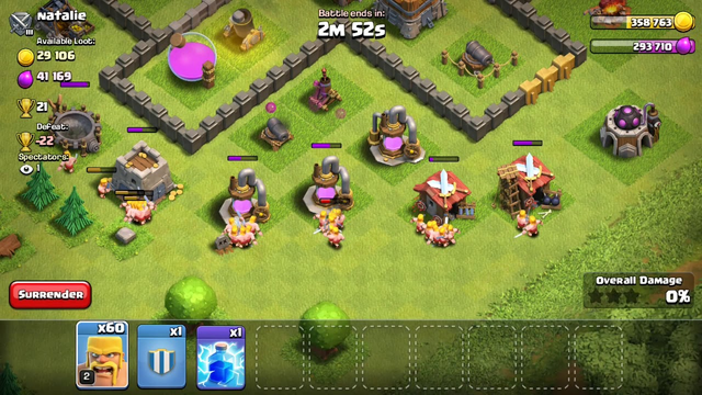 Army of 100 Barbarians coc   Clash of clans   Army for townhall 5   army for th 5   2019