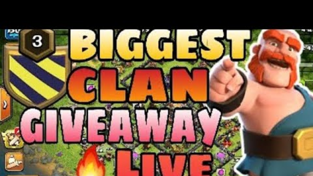 #Coc level 3 clan giveaway live #clash of clans