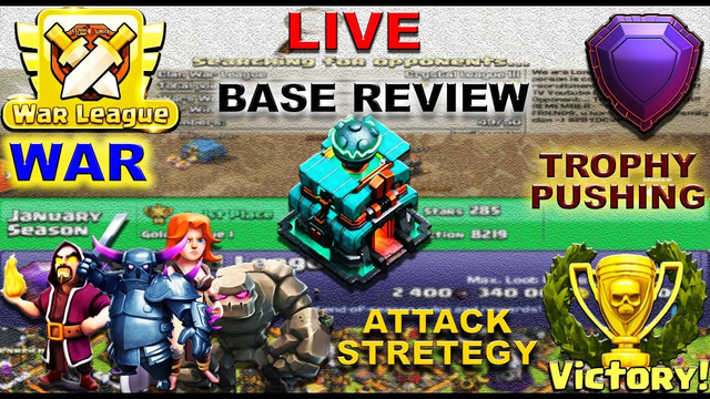 Base Review, Clan Game, Giveaway - Clash of Clans Live || Road to 1150