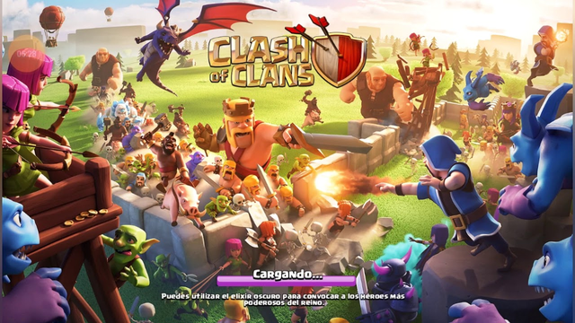Jugamos clash of clans