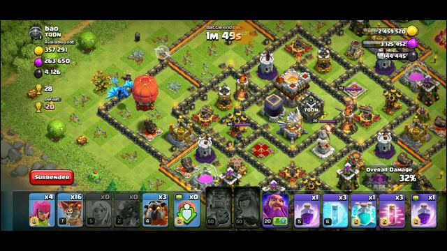 New combo attack strategy in clash of clans