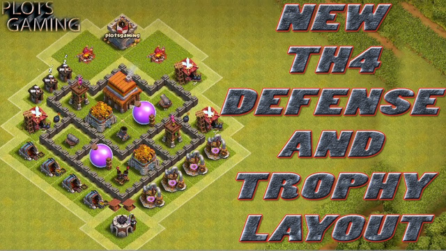 Clash Of Clans Town Hall 4 Defense (coc th4) Best War Base Layout Defense Strategy