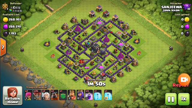 clash of clans level8 attack.