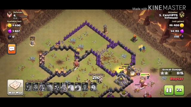 Atacuri la war pe Clash of Clans | #1