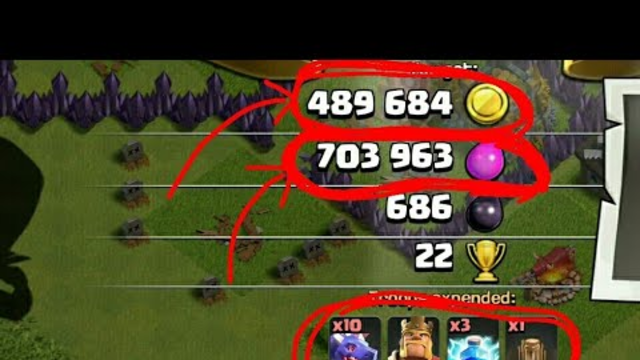 Clash of Clans | Townhall 8 | 480K+ gold and 700K+ elixer | Air attack by Dragon | Big loot