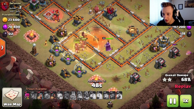 GET 3 STARS WITH KS SKELE HOGS AT TH12!  (Live Legends + Wars hits!) Clash of Clans Gameplay