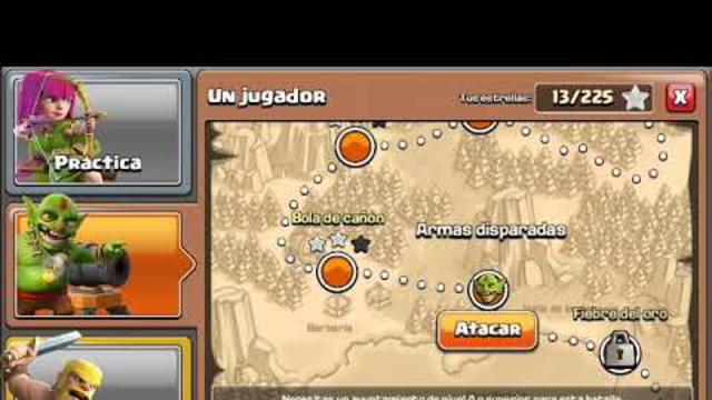 atacando a los duendes en clash of clans