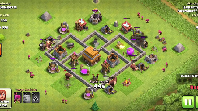 Clash of Clans - Defense base Town Hall 4 #2