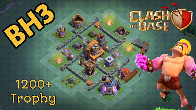 BEST Builder Hall 3 Base 2019 | NEW CoC BH3 Defense Base | Clash of Clans