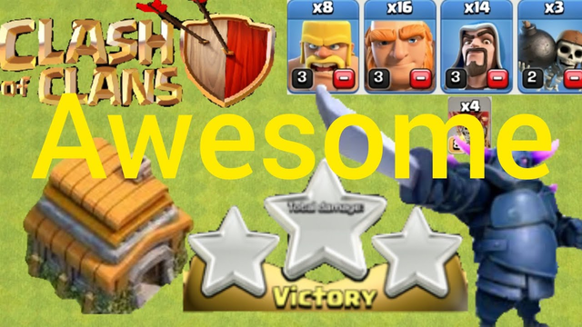(Clash Of Clans) Awesome,Attack,3,Stars,TH6