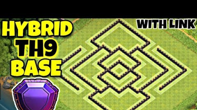 Best Th9 Hybrid Base Layout 2019 | Trophy/Farming Base With Link | Clash Of Clans