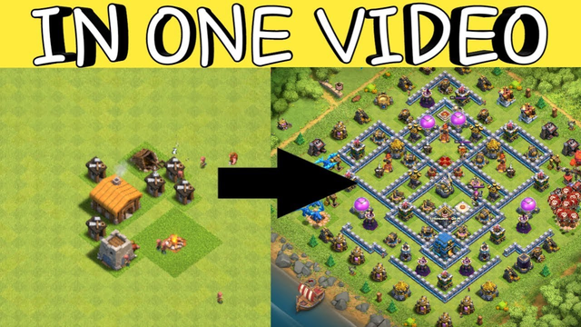 TH1 TO TH12 FULL  MAX IN ONE VIDEO || FULL GEMMING ||CLASH OF CLANS