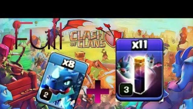 Badai Naga Elektro Spell Bat - Clash Of Clans Farming TH11 #14