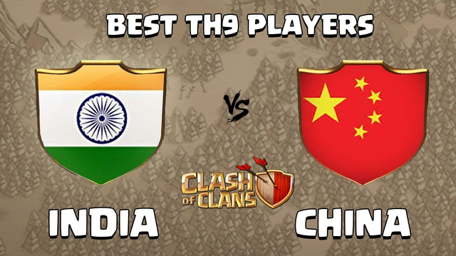 INDIA vs CHINA | Best TH9 War | TH9 War Attack Strategies Clash of Clans - COC