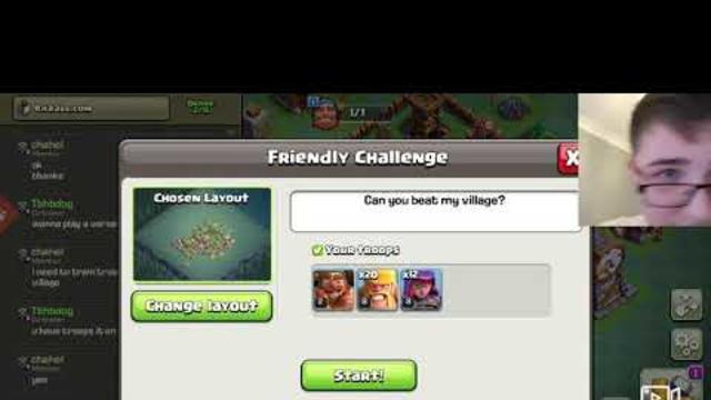 Clash of clans friendly battle
