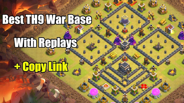 Town Hall 9 War Base With Replays | + Copy Link | + War Report | Clash of Clans TH9 War Base 2019