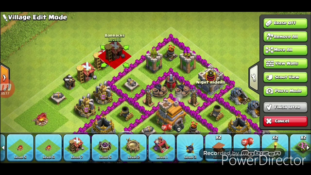 TH7 Farming Defensive Base (Clash of Clans) Without BARB KING And DARK ELIXIR DRILL(ALADDINSONGS)